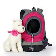 Gatto Cane Trasportini e cucce da viaggio Animali domestici Ceste Portatile Traspirante Verde Blu Rosa Giallo Nylon