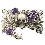 Tatuointitarrat Toteemisarja/Muut - Paperi - Non Toxic/Kuvio/Alaselkä/Waterproof - Skeleton Breath of Death Purple Rose -
