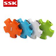 usb 2.0 ssk® shu024 -1 4-port hub USB de alta velocidade