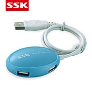 usb 2.0 ssk® shu017 4-port hub usb de alta velocidade USB 2.0 hub usb