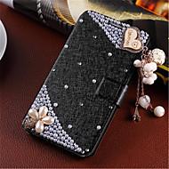 Noua moda floare 3d bling diamant clapa de acoperire PU piele caz toc pentru Samsung Galaxy a3 (Color asortate)