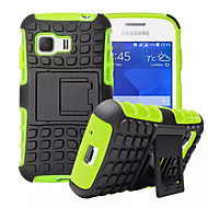 For Samsung Galaxy etui Stødsikker Med stativ Etui Bagcover Etui Armeret PC for Samsung Young 2 Grand Prime