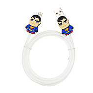 Disney Surperman Charging Cable For Iphone 5G/5S/5C/6/6PLUS Ipad Air 2 Ipad Mini