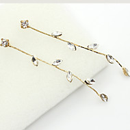 Druppel oorbellen Kristal Modieus Europees Strass Verguld 18K goud imitatie Diamond Oostenrijk Crystal Goud Sieraden Voor 2 stuks