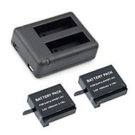 GOPRO 4 sg006의 GOPRO 영웅 4 충전기 키트 2PCS 3.8V의 1500MAH의 GOPRO 영웅 4 배터리 + 듀얼 2 배터리 USB 충전기