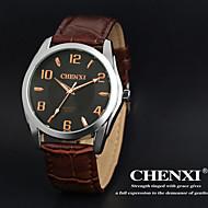 CHENXI® 男性 リストウォッチ クォーツ 日本産クォーツ レザー バンド ブラウン