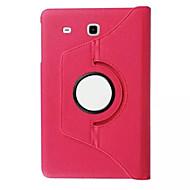 360 lichia girar tampa da caixa de couro da pele para Samsung Galaxy Tab 9.6 e T560 caso da tampa do tablet / t561 (cor aorted)