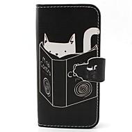 Na Samsung Galaxy Etui Portfel / Etui na karty / Z podpórką / Flip Kılıf Futerał Kılıf Kot Skóra PU SamsungS6 edge / S6 / S5 Mini / S5 /