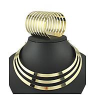 Vintage / Party-Damen-Halskette / Armband(Vergoldet / Legierung)