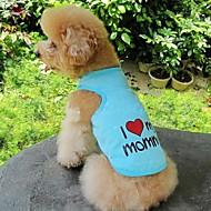 猫用品 / 犬用品 Tシャツ オレンジ / ブルー / ピンク / グレー 犬用ウェア 夏 文字&番号 / ハート 結婚式 / コスプレ