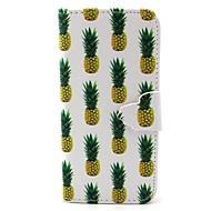 ananas wzór pu skóra przypadku gniazda karty i stań do Samsung Galaxy S4 mini / s3mini / s5mini / S3 / S4 / S5 / S6 / s6edge