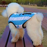 고양이 강아지 티셔츠 져지 강아지 의류 코스프레 웨딩 스트라이프 문자와 숫자 블루
