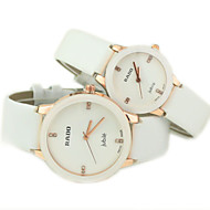Couple's Casual Dial PU Band Quartz Wrist Watch