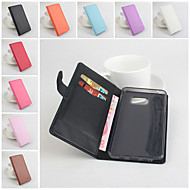 For Samsung Galaxy Note Wallet / Card Holder / with Stand / Flip Case Full Body Case Solid Color PU Leather Samsung Note 5