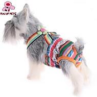 고양이 / 개 바지 핑크 강아지 의류 여름 Randig 웨딩 / 코스프레