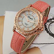 Women's Diamante Round Dial PU Band Quartz Analog Casual Watch Cool Watches Unique Watches Fashion Watch