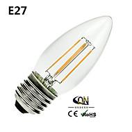 Lampade LED a incandescenza 4 COB ONDENN A B22/E26/E27 4 W Intensità regolabile 400 LM Bianco caldo 1 pezzo AC 220-240/AC 110-130 V