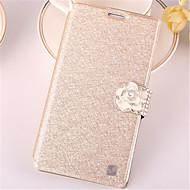 Mert Samsung Galaxy tok Kártyatartó / Strassz / Állvánnyal / Flip Case Teljes védelem Case Csillámpor Műbőr SamsungWin / Style Duos / J7