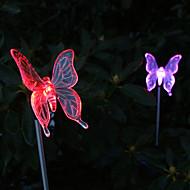 2 kpl aurinko väriä vaihtava Butterfly Garden vaakalaudalla light
