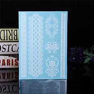 Tatoeagestickers - Patroon/Waterproof - Sieraden Series - voor Dames/Heren/Volwassene/Tiener - Wit/Meerkleurig - Papier - 4 - stuks