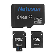 natusun clase 64gb tarjeta de memoria tf 10 microsdhc y el adaptador SDHC