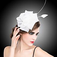 成人用 オーガンザ かぶと-結婚式 パーティー ヘッドドレス コサージュ ヘアクリップ 1個