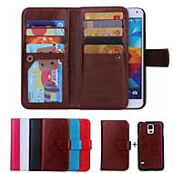 mágneses levehető pénztárca testes bőrtok kártyanyílás Samsung Galaxy S4 / S5 / S6 / s6 él / S7 / s7 él
