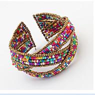 커프 팔찌 유니크 디자인 패션 보헤미아 스타일 조절 가능 비즈 열린 의상 보석 보석류 보석류 제품 파티