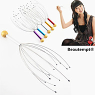 1PCS Manual Head Acupressure Points Scalp Neck Body Massager Stress Release Relax Claw Massager(Random Color)