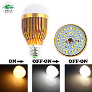 Zweihnder E27 7W 650LM 3000-6000K 28x5730 SMD Dual Color Temperature Bulb Light (new products,AC 85-265V,1Pcs)