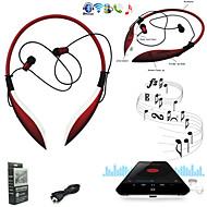 grandes hbs-800 tiburones de auriculares bluetooth diseño inalámbrico auriculares auriculares deportivos estéreo para teléfonos / rojo pc