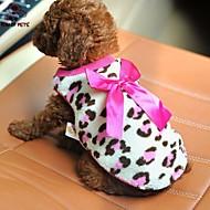猫用品 犬用品 Tシャツ レッド ピンク 犬用ウェア 春/秋 蝶結び カジュアル/普段着