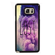 For Samsung Galaxy Note Etuier Mønster Bagcover Etui Ord / sætning PC for Samsung Note 5 Edge Note 5 Note 4 Note 3