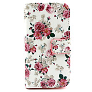 Flowers Pattern PU Leather TPU Full Body Case with Card Holder for Samsung Galaxy Alpha/Grand NEO /Core Plus