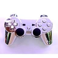 chapeamento de prata joystick sem fios SIXAXIS Bluetooth dualshock3 recarregável gamepad controlador para PS3