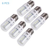 YouOKLight®  6PCS E14/E27 5W 400lm CRI>80 3000K/6000K 24*SMD5730 LED Light Corn Bulb (110-120V/220-240V)
