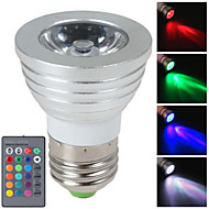 HRY® 3W E27/E14/GU10 RGB Color Changing LED Light Bulb Lamp with Remote Control(85-265V)
