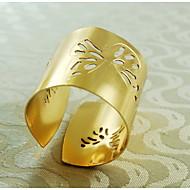 Teste padrão de borboleta anel decoração guardanapo, metal, 1.77inch, conjunto de 12