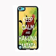 ipod touch 5 için Hakuna Matata tasarım alüminyum yüksek kaliteli durumda