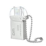 dm PD008 32gb usb 2.0 + micro usb impermeabile flash drive OTG per smart phone&calcolatore - argento