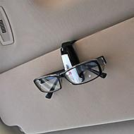 universele auto auto zonneklep glazen zonnebril card ticket holder clip (willekeurige kleur)