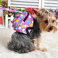 犬用品 バックパック キュートで愛らしい 水玉柄 マルチカラー クロス