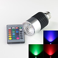 E27 10W High Power LED 900LM RGB Remote-Controlled/Decorative Spot Lights AC 85-265 V