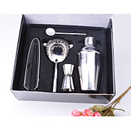 5Pcs Stainless Steel Cocktail Shaker Mixer Drink Bartender Kit Bars Set Tools