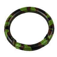 6cm en acier inoxydable extérieur boucle anneau mousqueton camouflage