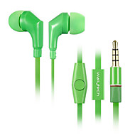 WHF-111 High Quality 3.5mm Noise-Cancelling Mike In Ear Earphone for Iphone and Other Phones(Assorted Colors)