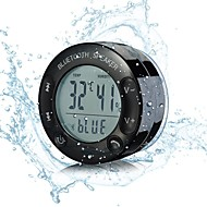 IPX67 Wireless Bluetooth Waterproof Shower Speaker, with Suction and Large LCD Display for Temperature and Humidity