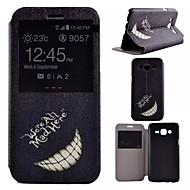 Na Samsung Galaxy Etui Z podpórką / Z okienkiem Kılıf Futerał Kılıf Czarno-biały Skóra PU Samsung J5