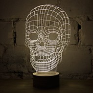 3D Skull Cartoon Model Rechargeable Mood Atmosphere LED Decoration Table Lamp Cool Warm White Gift Night Light