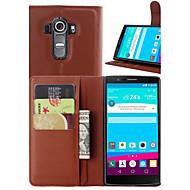 Mert LG tok Kártyatartó / Pénztárca / Állvánnyal / Flip Case Teljes védelem Case Egyszínű Kemény Műbőr LGLG G4 / LG G3 / LG G3 Beat / G3